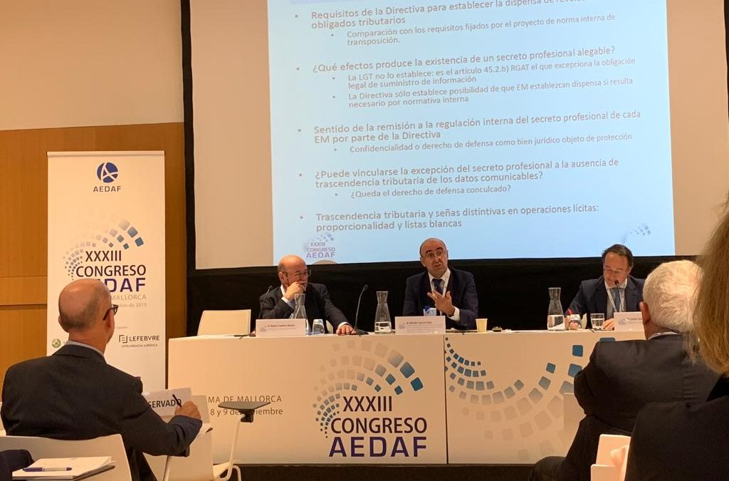 Matías Jiménez asiste al XXXIII Congreso de la AEDAF